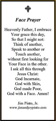Face Prayer Card - Product Image